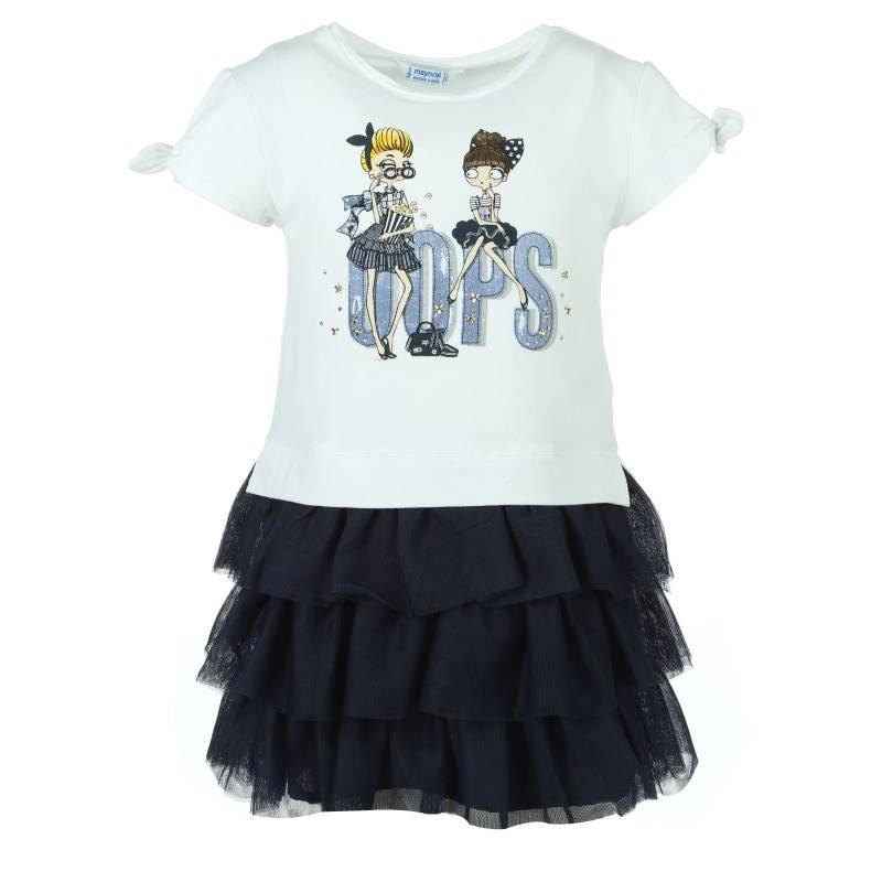 Купить Платье MAYORAL, цв. темно-синий, 128 р-р, Детские платья и сарафаны