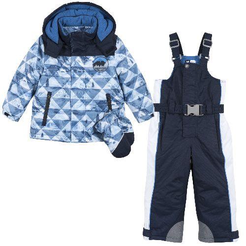 Купить 9076345, Костюм утепленный Chicco для мальчиков р.80 цв.темно-синий, Комплекты верхней одежды для мальчиков