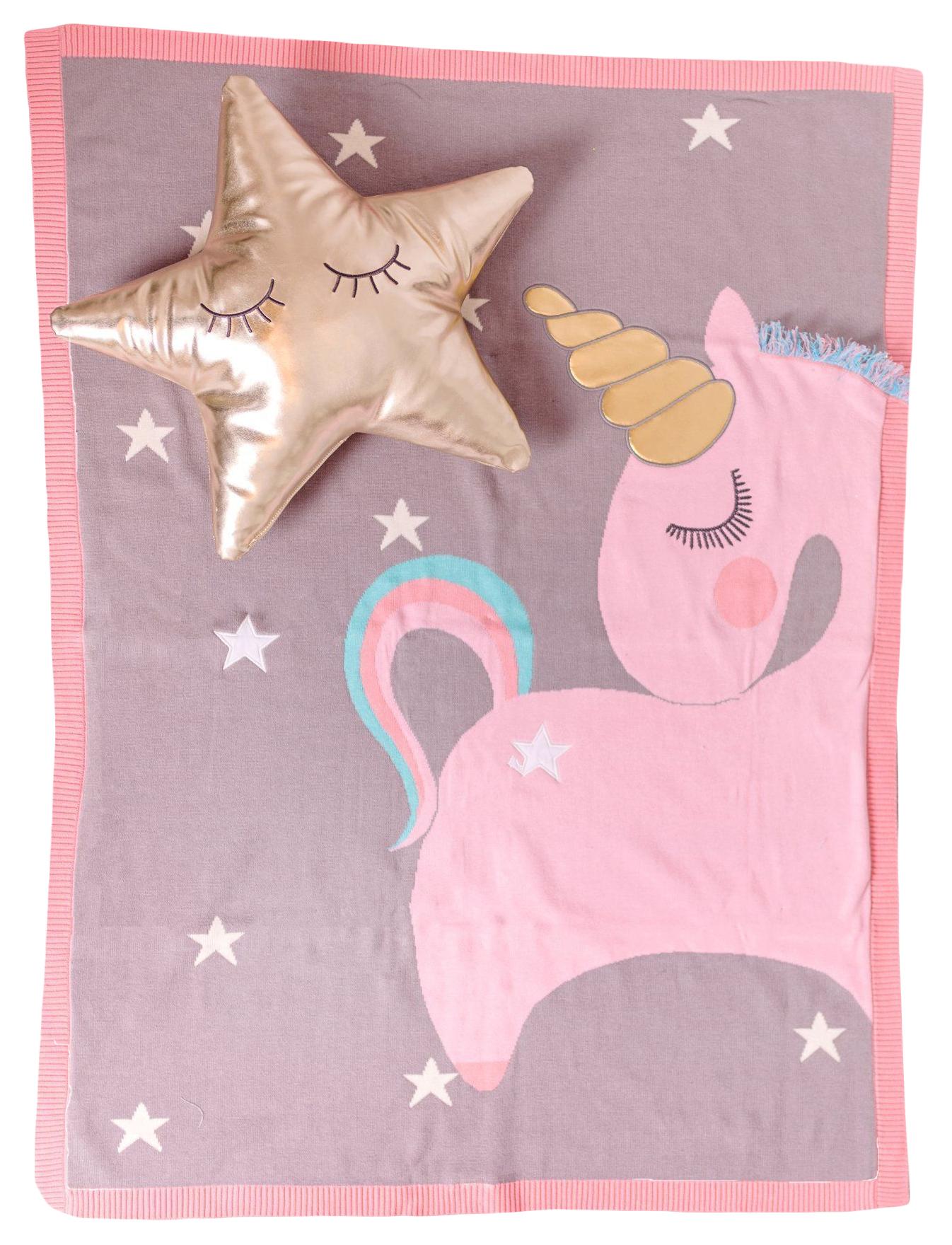Купить Одеяло Bizzi Growin (Биззи Гровин) Unicorn вязаное 70*90 BG006, Одеяла для новорожденных