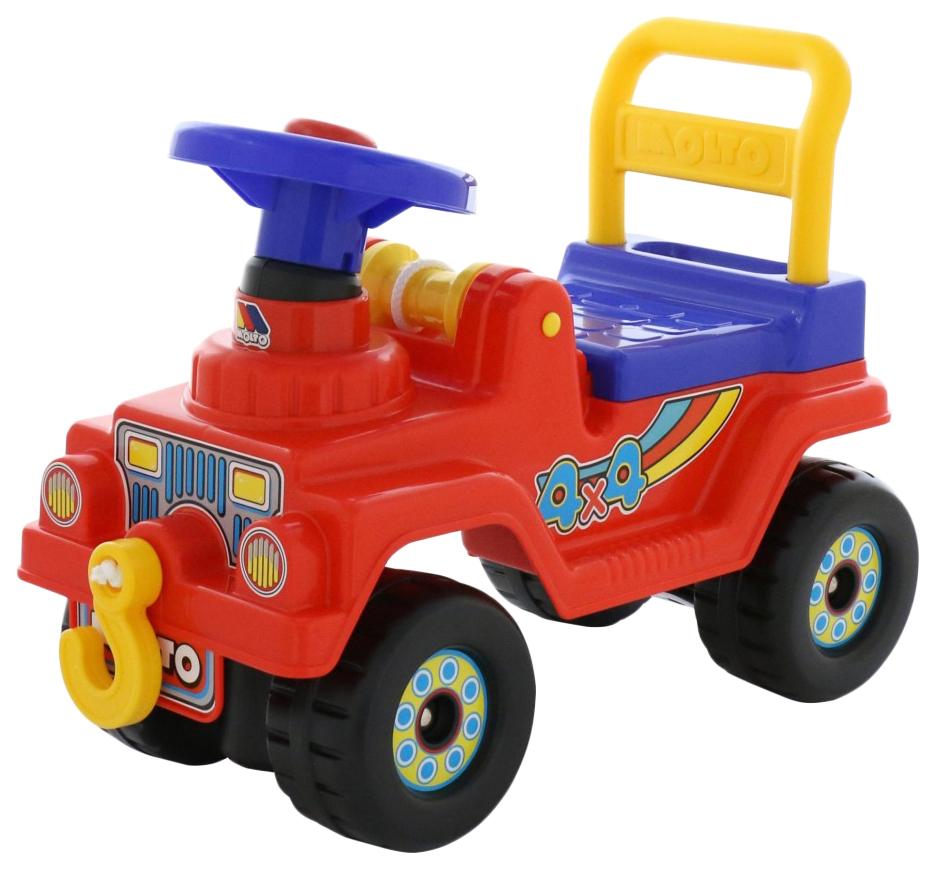Купить Машина-каталка Полесье Джип 4х4 с гудком красный, Машинки каталки