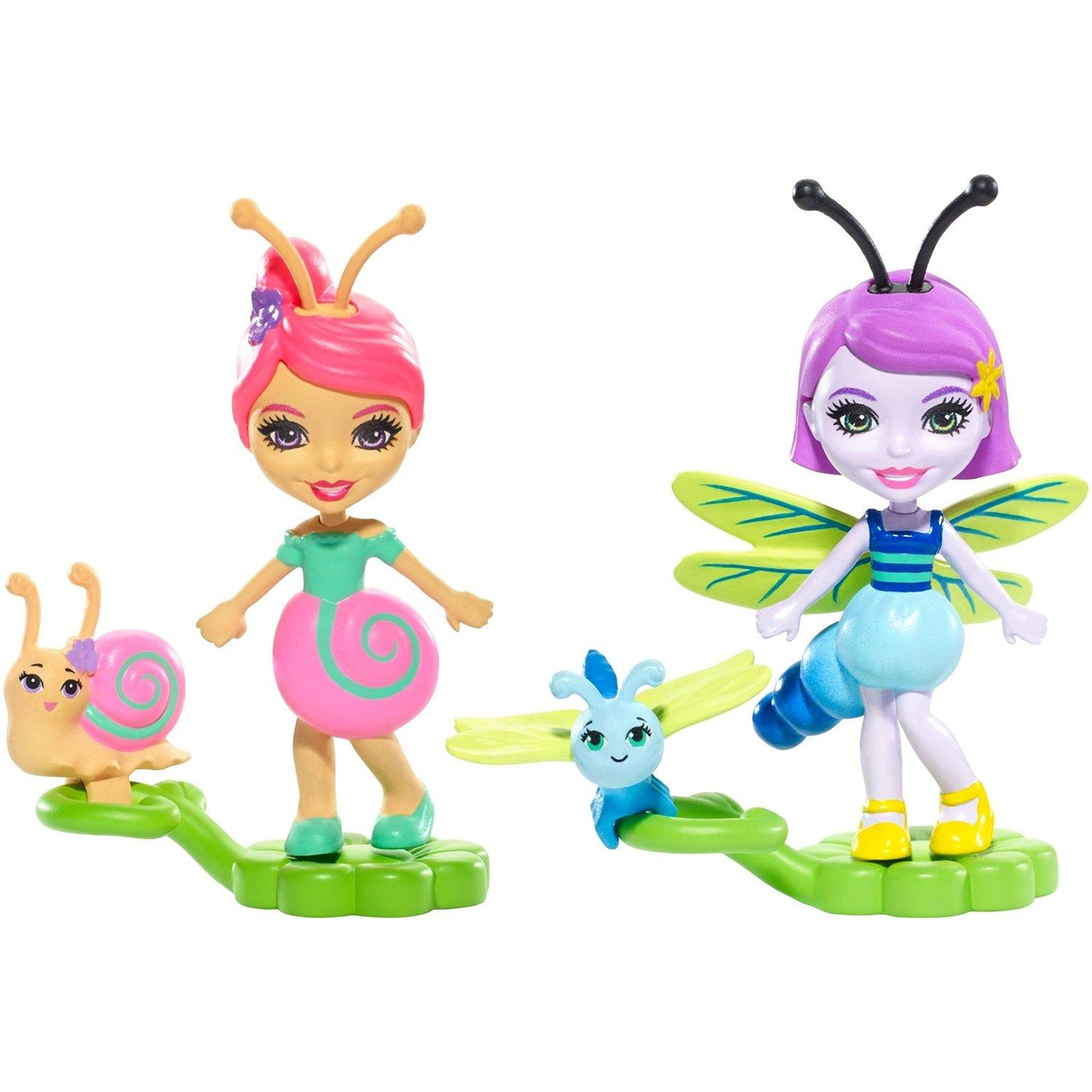 Купить Enchantimals Petal Park Саксон Улитка и Дара Стрекоза - мини-куклы, Игровые наборы