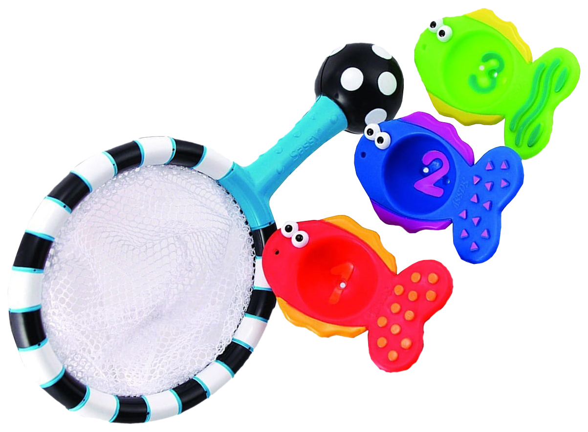 Набор игрушек для купания Sassy Сачок с рыбками 10066EP