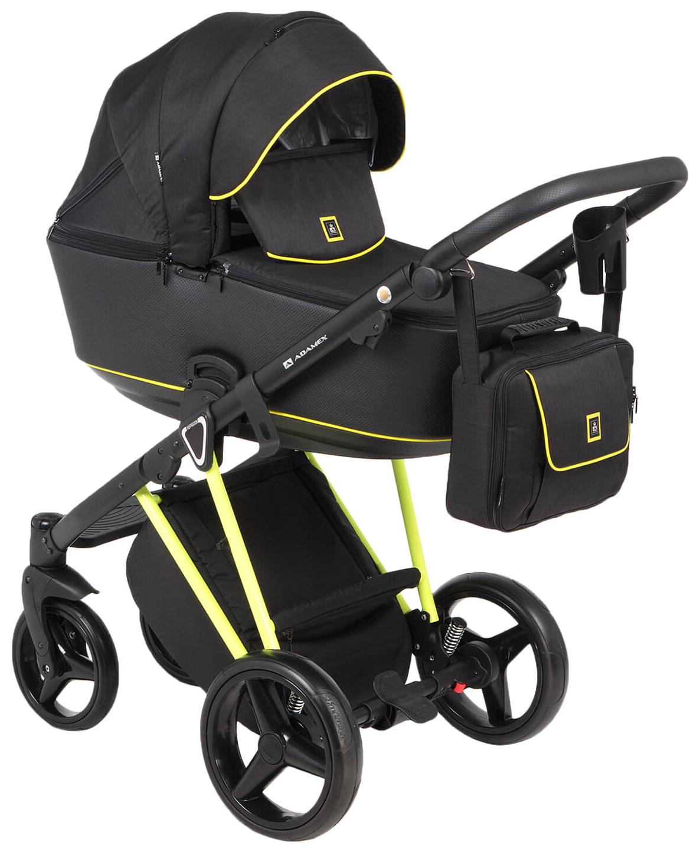 Купить Коляска 2 в 1 Adamex Cristiano FLUO CRISTIANO-FLUO-2-В-1-YELLOW Yellow, Детские коляски 2 в 1