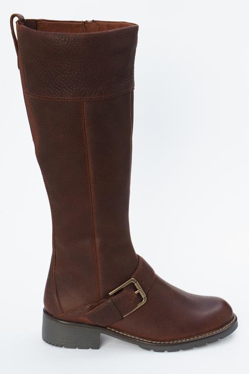 Сапоги женские Clarks 26138195 коричневые 39 RU