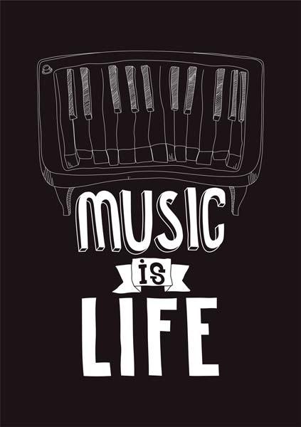 Картина на холсте 70x90 Music is Life Ekoramka HE-101-212