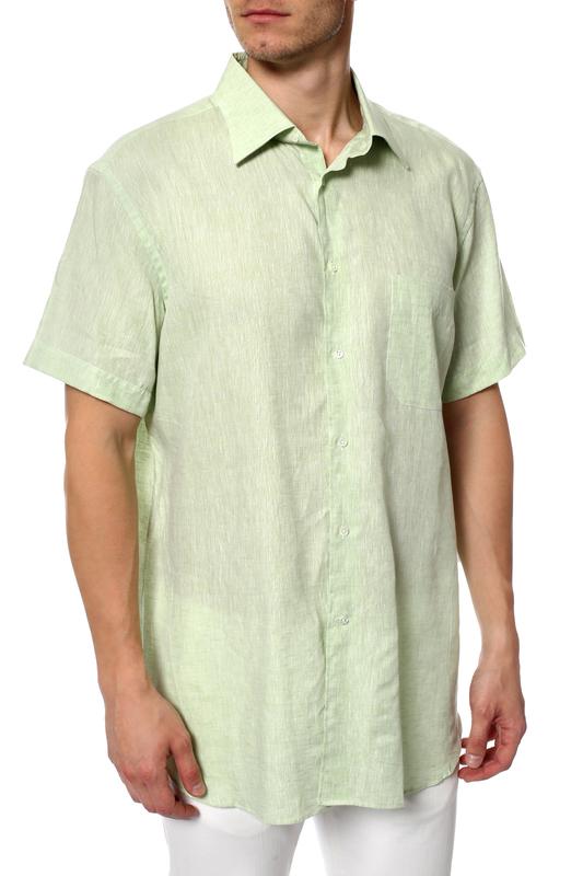 Рубашка мужская Corneliani 11603 зеленая 44 IT