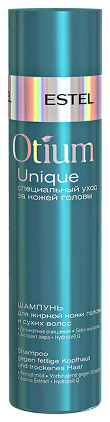 Шампунь Estel Professional Otium Unique для жирной кожи головы и сухих волос 250 мл