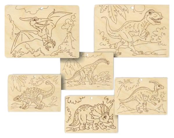 Набор для выжигания Пелси Теплые картинки Динозавры