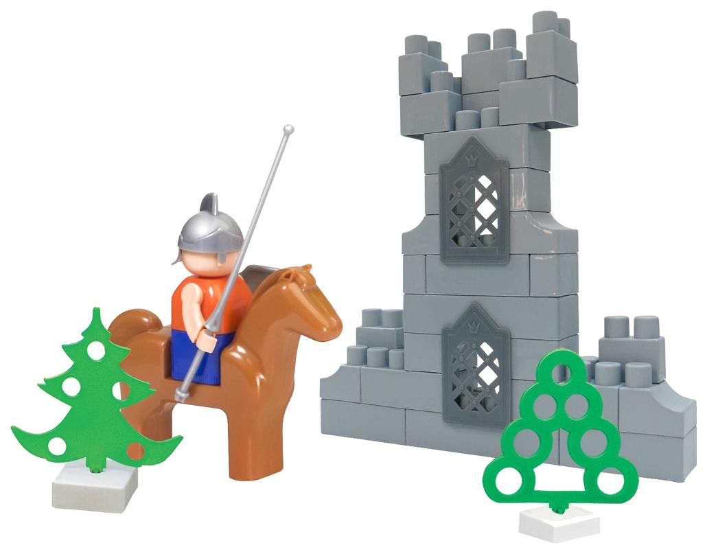 Купить Конструктор для малышей Bauer Крепость Всадник 460, Детские конструкторы