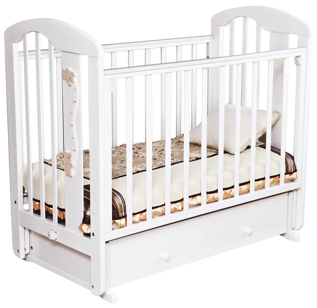 Кровать детская Красная Звезда Агата С 719 накладка-ростомер № 11 Белый