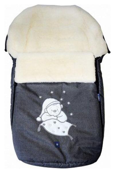 Купить Спальный мешок в коляску Womar №S77 Exlusive Bear Melange fabric Графитовый, Конверты в коляску