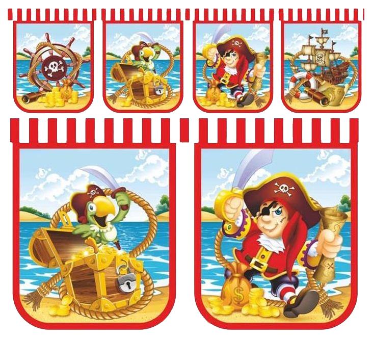 Праздничная гирлянда Long Companion Веселый Пират