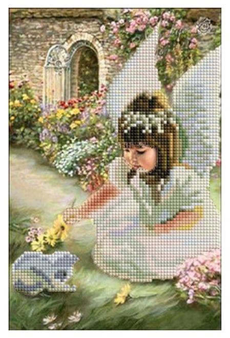 Купить Мозаика алмазная Рыжий кот Ангелок и Котенок 20х30см 33 цв, Мозаики