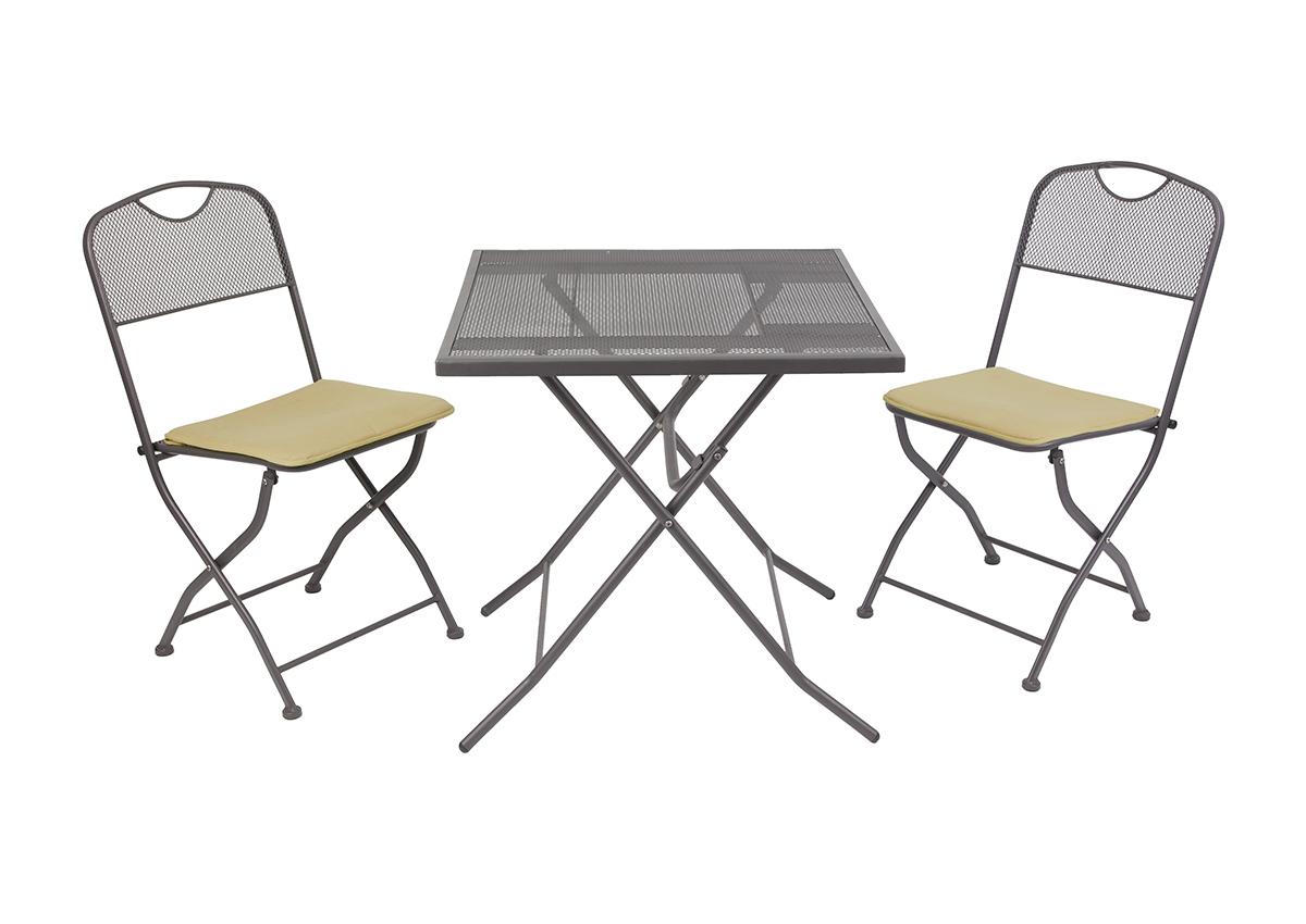 Набор складной мебели GoGarden SANREMO, садовый, 70х70х71см, железо