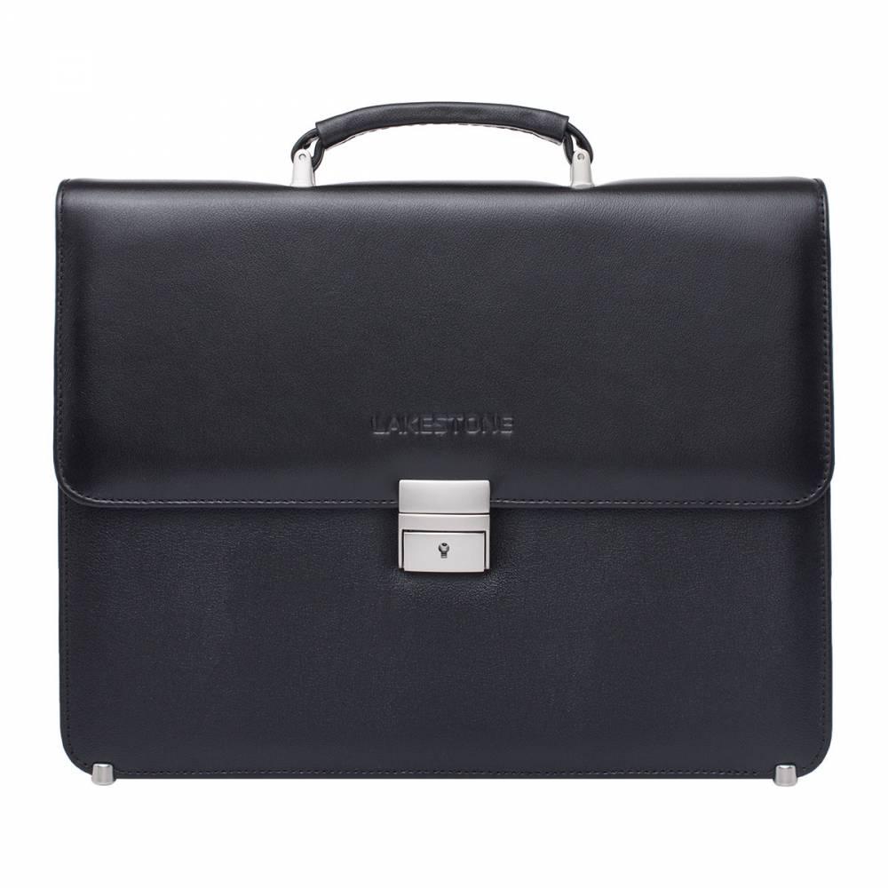 Портфель мужской кожаный Lakestone Braydon 943024/BL черный фото