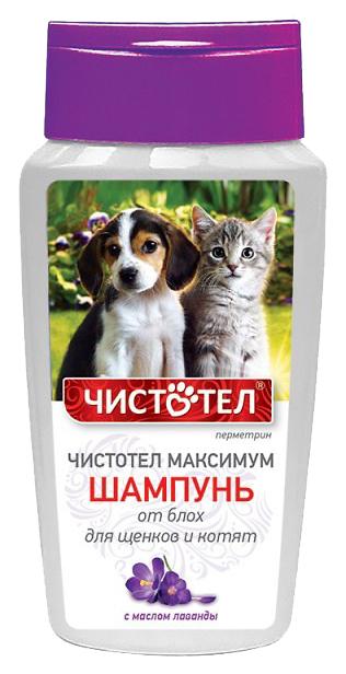 Средство от блох для домашних животных Чистотел Maксимум Шампунь для щенков и котят 180 мл