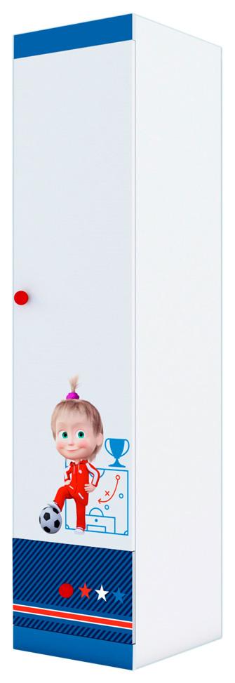 Купить Детский шкаф-пенал Polini kids Маша и Медведь Fun 460 Синий, Шкафы в детскую комнату