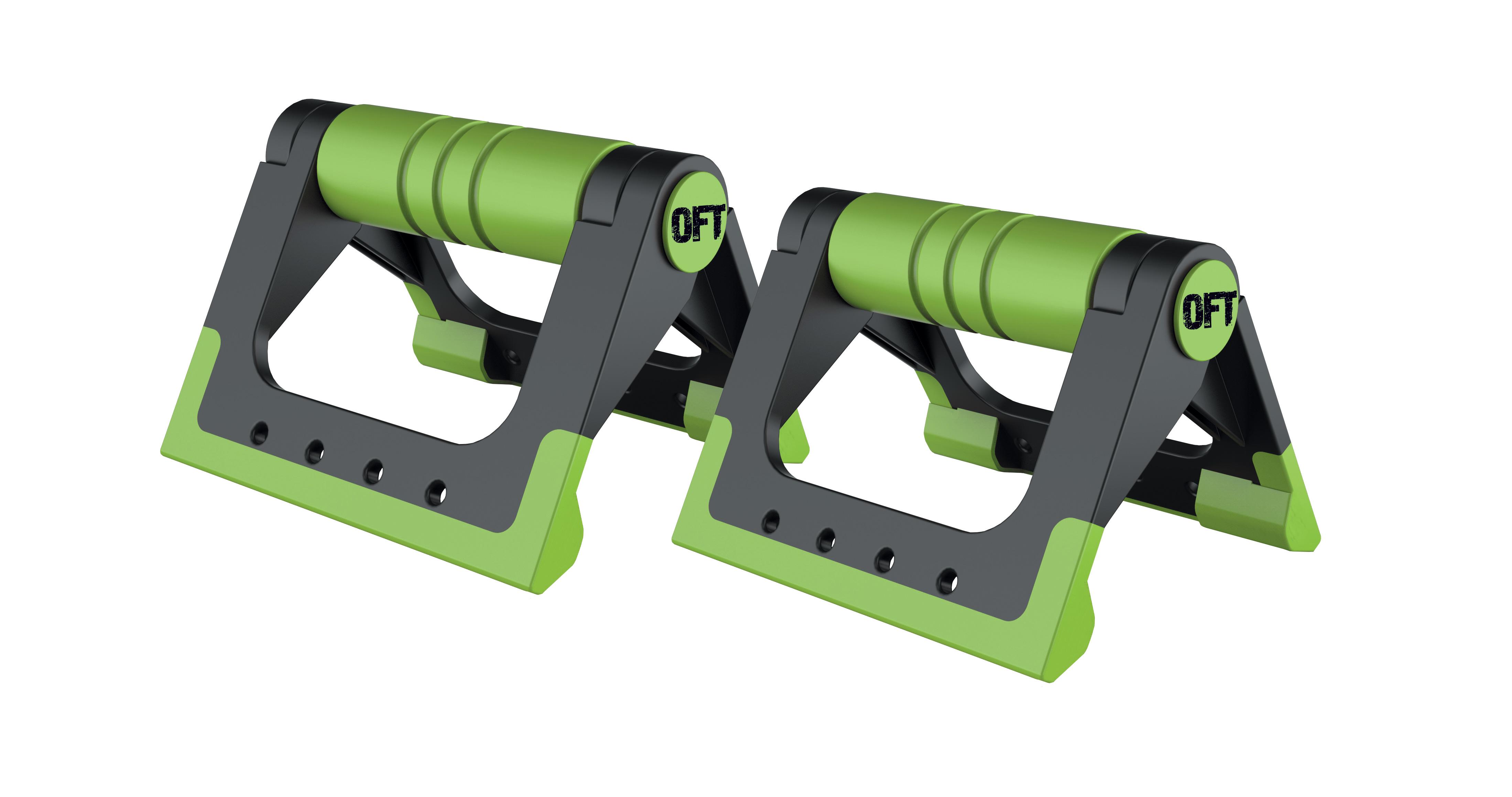 Упоры для отжиманий Original Fit.Tools до 150 кг черно-зеленые