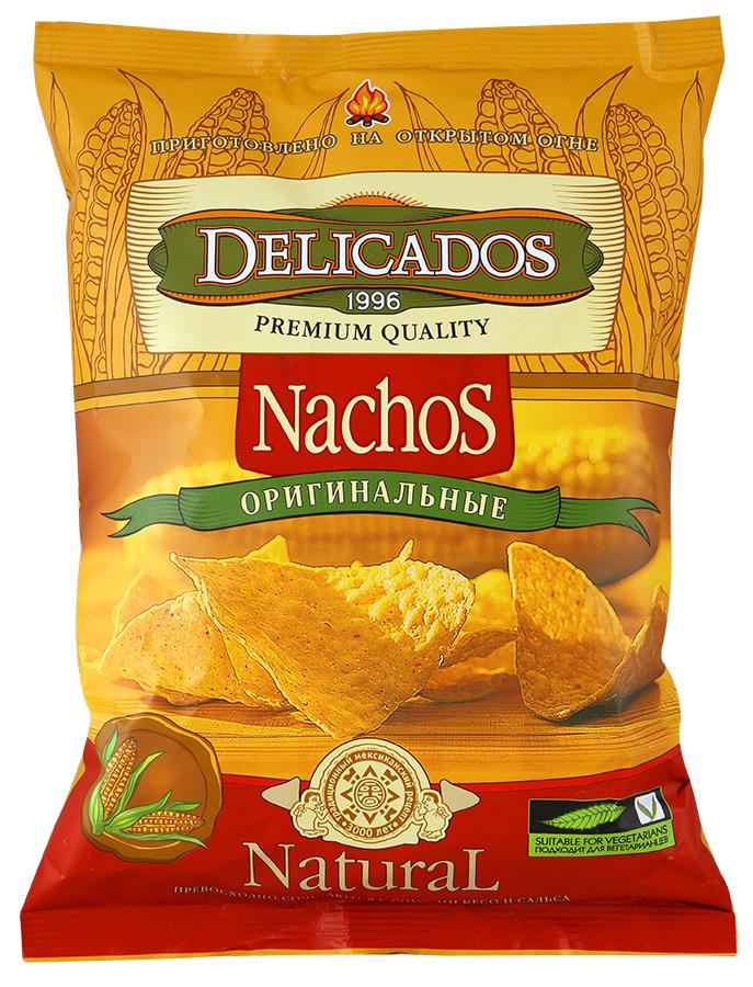 Чипсы кукурузные Delicados nachos оригинальные 75 г