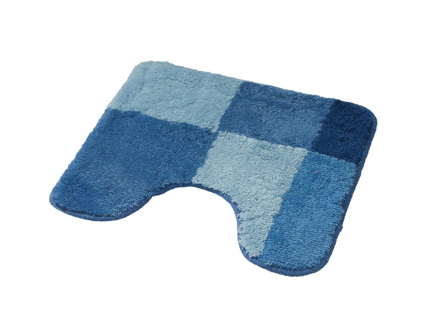 Коврик для ванной комнаты Pisa синий/голубой 50*50