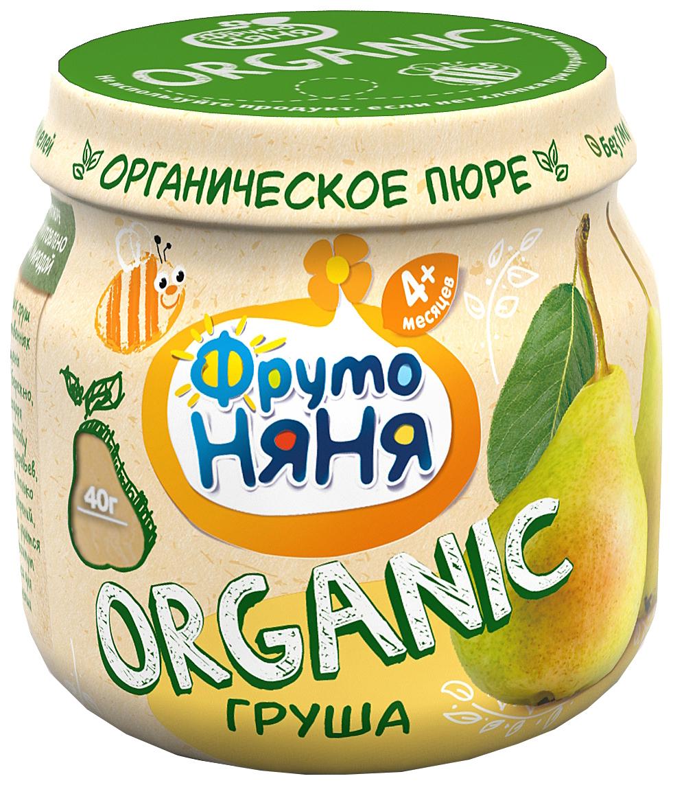 Купить Пюре фруктовое ФрутоНяня Organic Груша с 4 мес. 80 г, Фруктовое пюре