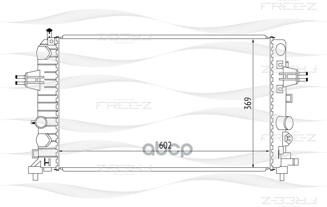 Радиатор системы охлаждения FREE Z KK0161