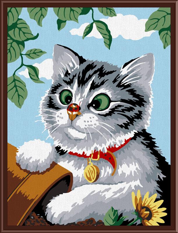Котенок-картина по номерам