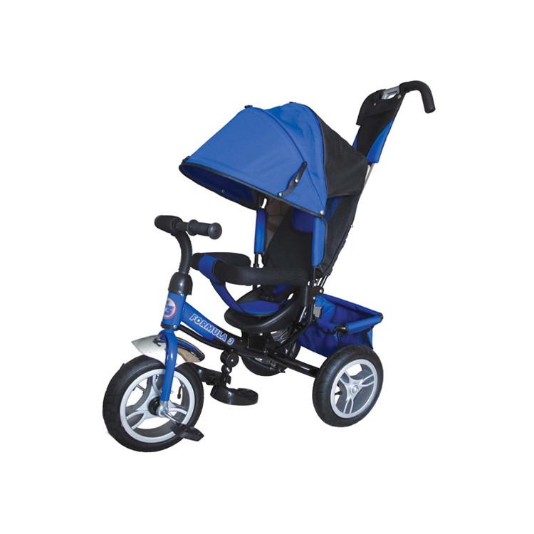 Купить Трехколесный велосипед Formula-3 с родительской ручкой синий FA3B, Shantou Gepai, Детские велосипеды-коляски