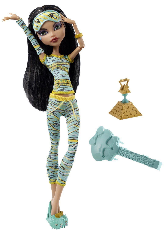 Купить Кукла Monster High Клео де Нил Пижамная вечеринка (Смертельно уставшие) V7974, Классические куклы