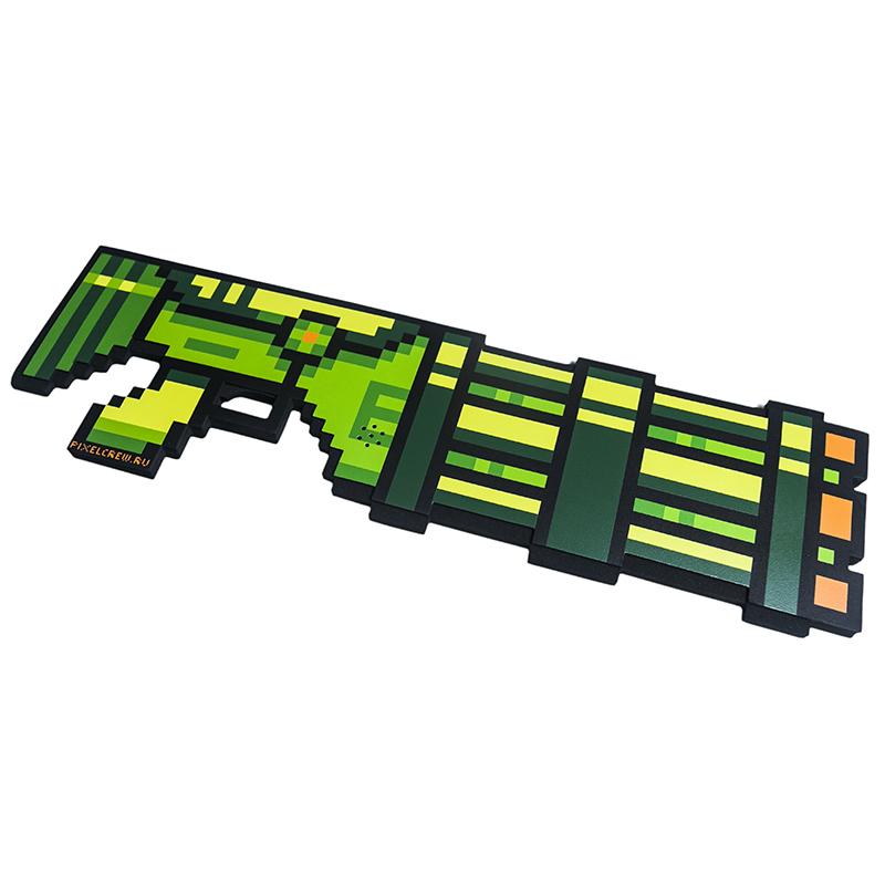 Миниган 8Бит Pixel Crew Зеленый пиксельный