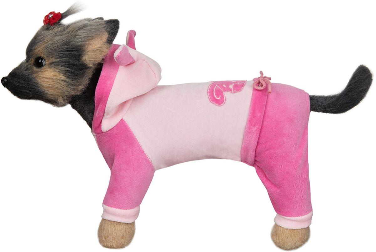 Комбинезон для собак DOGMODA велюровый Зайка-3 длина спины 28см.