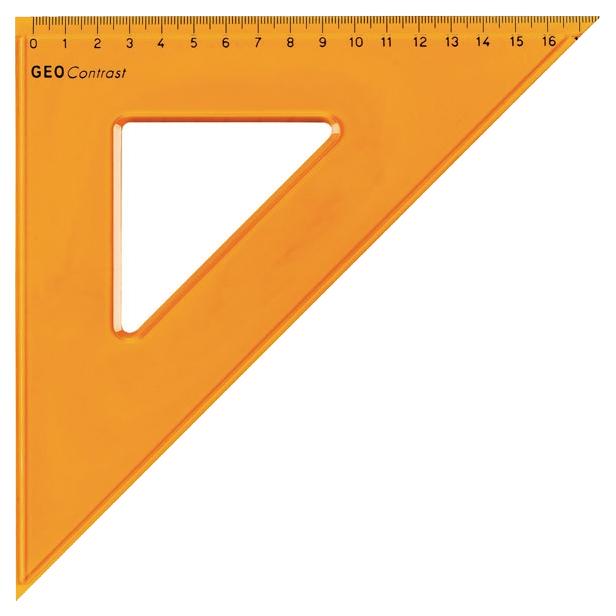 Треугольник Aristo AH22425 45°/45° с канавкой