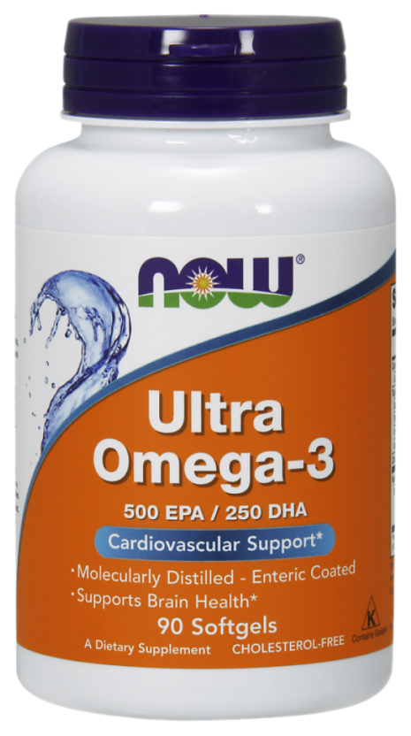 Купить NOW ltra Omega-3 500 EPA/250 DHA 90 капсул
