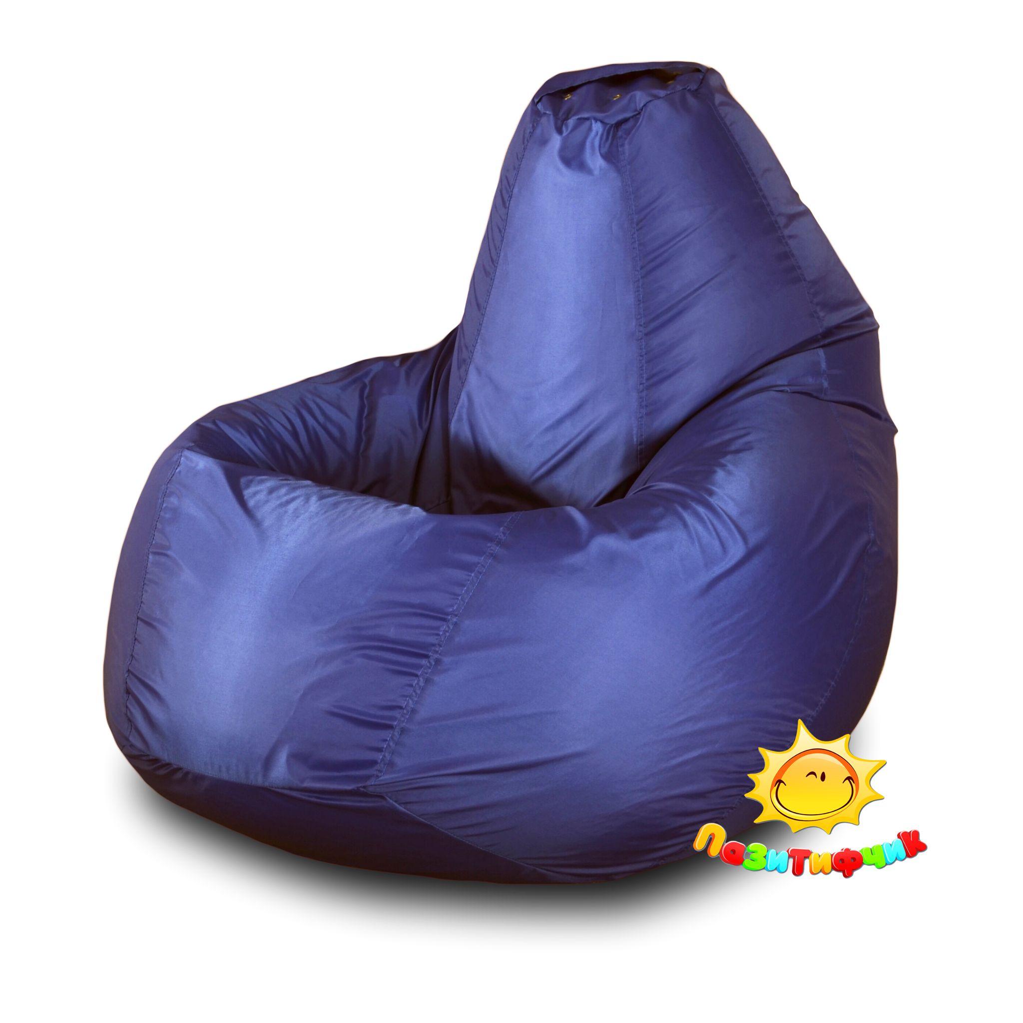 Кресло-мешок Pazitif Груша Пазитифчик, размер L, оксфорд, синий