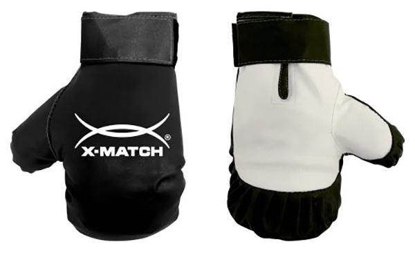 Боксерские перчатки X Match 87730 белые/черные 5,86