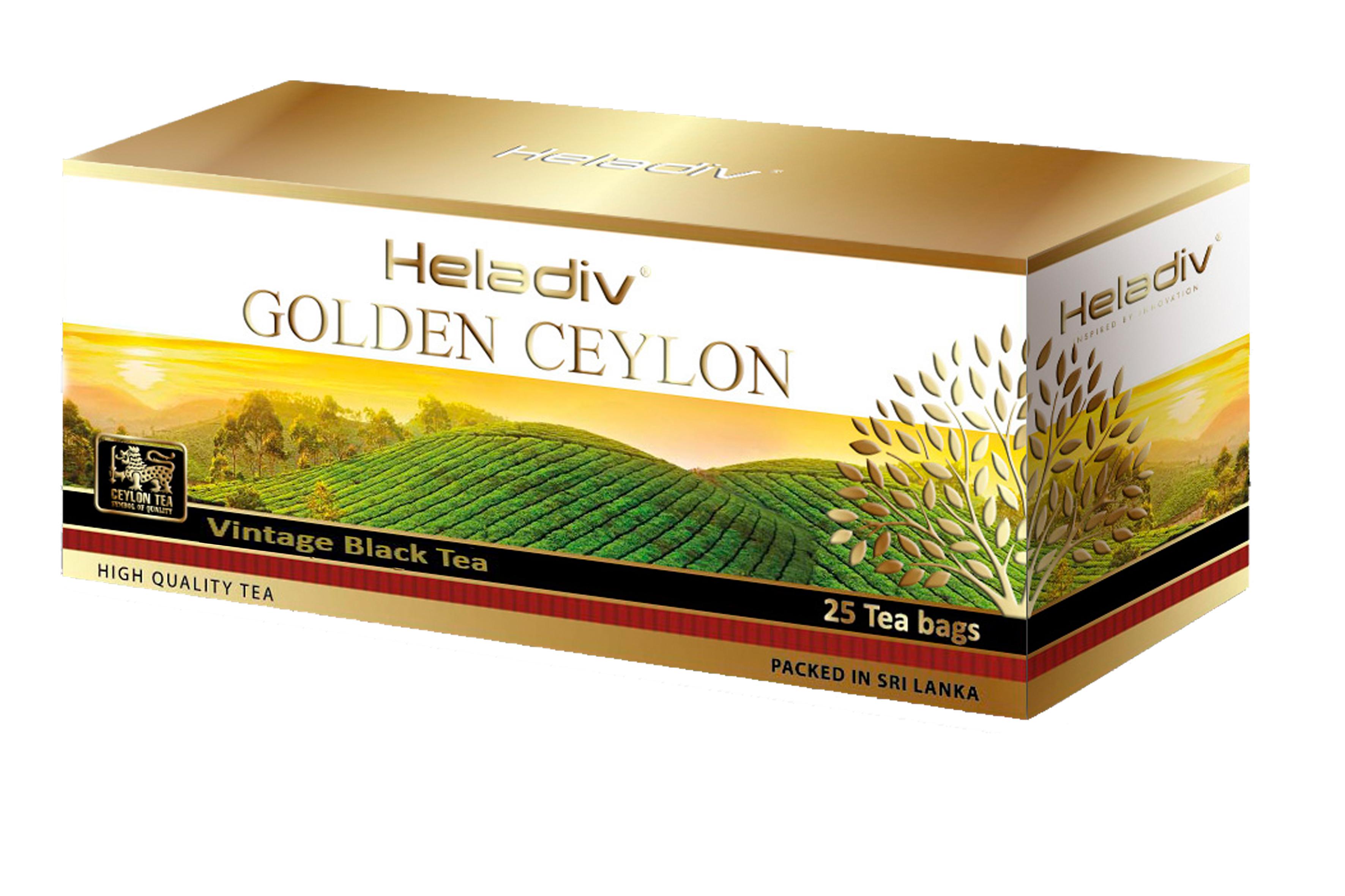 Чай черный пакетированный  Heladiv GC vintage black tea 25 пакетиков