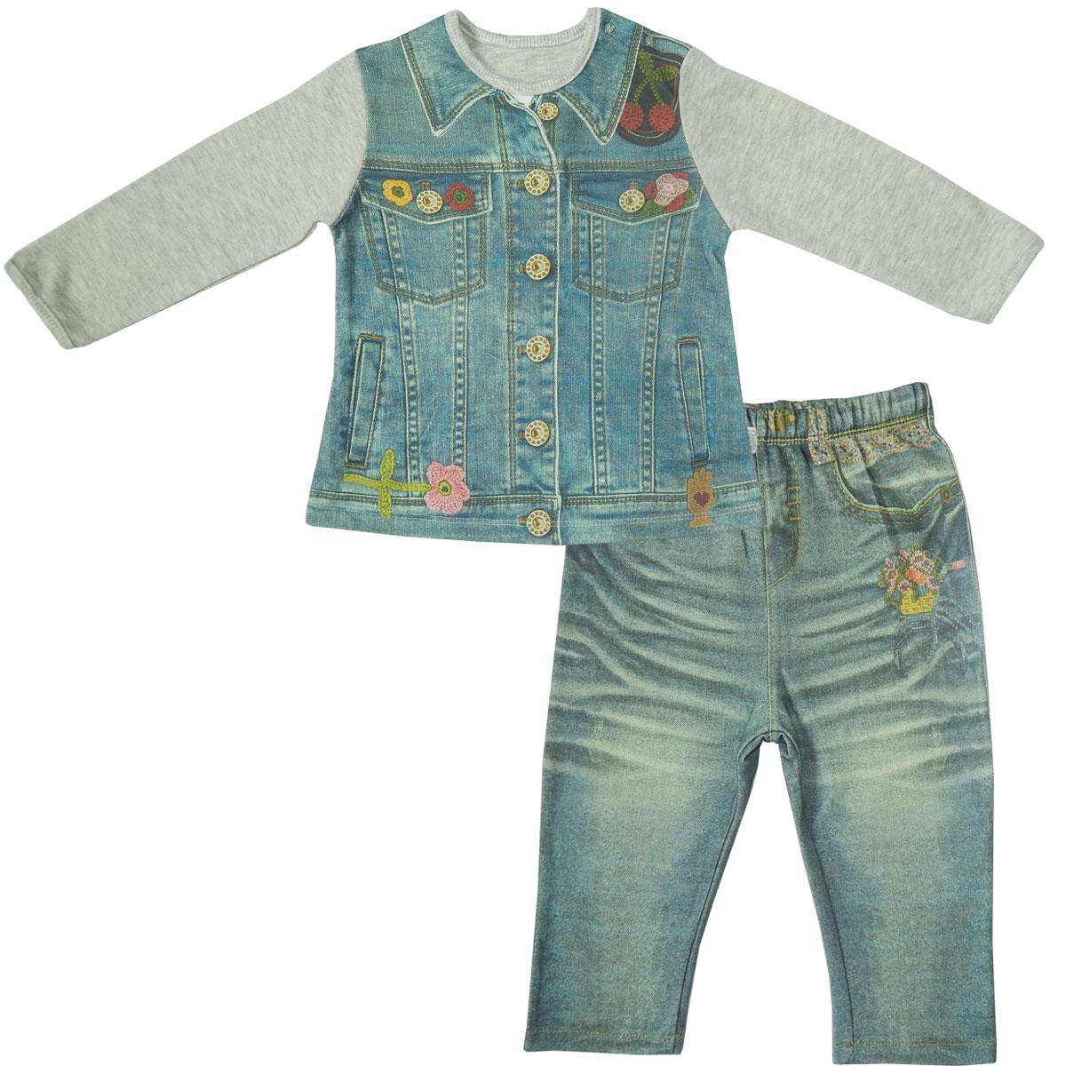 Купить Комплект одежды Папитто для девочки Fashion Jeans 594-05 р.22-74, Комплекты для новорожденных