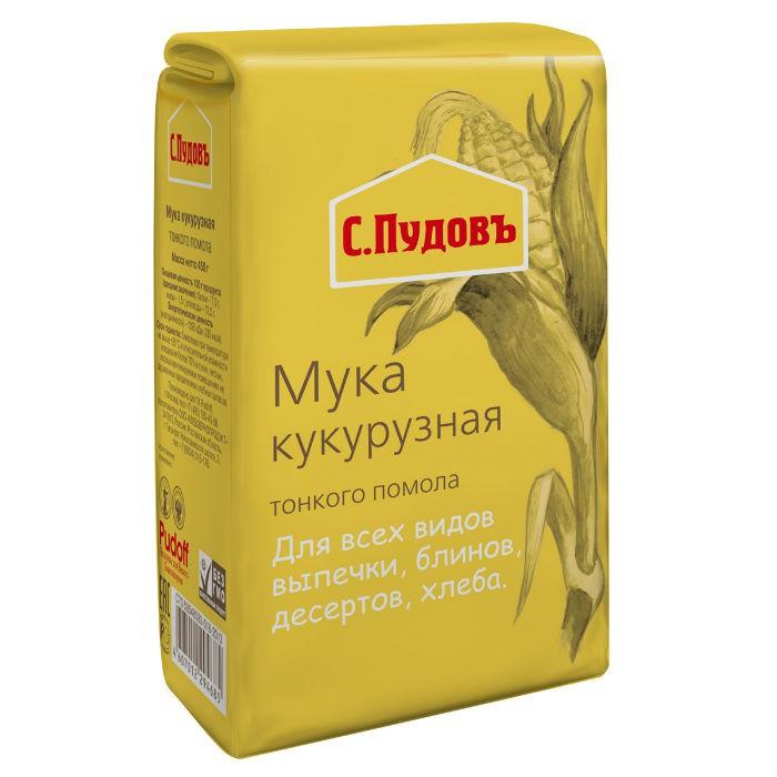 Мука кукурузная С.Пудовъ 450 г