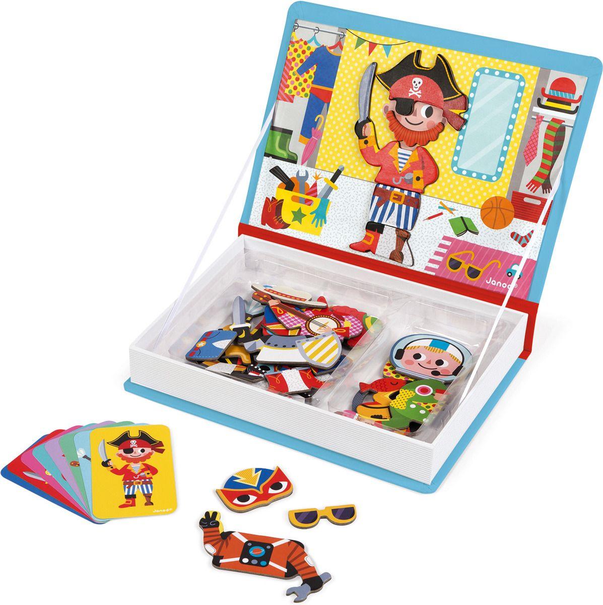 Купить Семейная настольная игра Janod Мальчики в костюмах J02719, Магнитные настольные игры