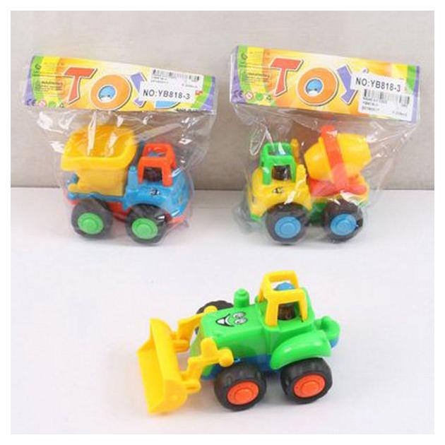 Купить Строительная техника Спецтехника Трактор YB818-3 в ассортименте, Junfa toys