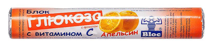 Купить Блок глюкоза с витамином С апельсин, Блок Глюкоза с витамином С Dr. Schmidgall таблетки для рас. 18 шт. апельсин