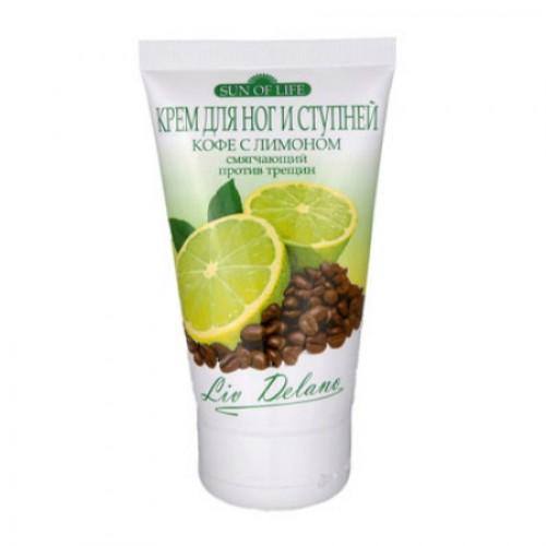 Купить Крем для ног Liv Delano Sun of Life Кофе с лимоном смягчающий, против трещин 150 мл