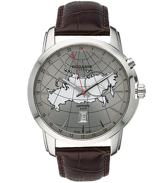 Наручные часы кварцевые мужские Rodania Travel 2514722.