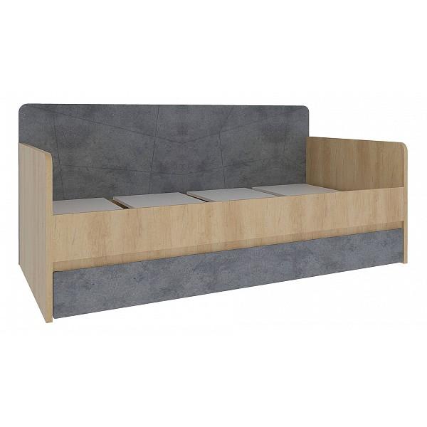 Кровать СтолЛайн Киото СТЛ.339.09 90х190 см, коричневый/серый