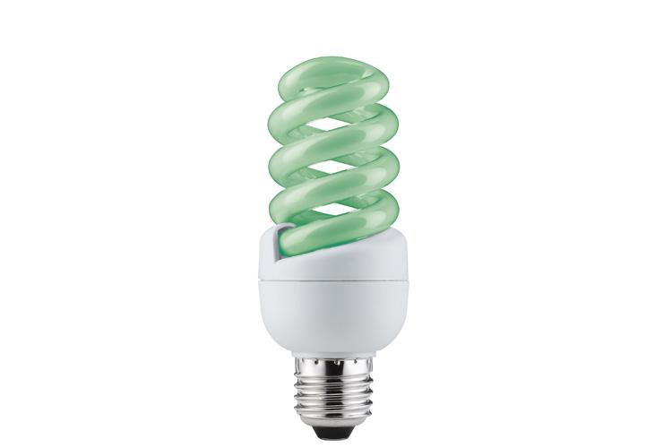 Лампа энергосберегающая Spirale 15W E27 Зеленый 88089
