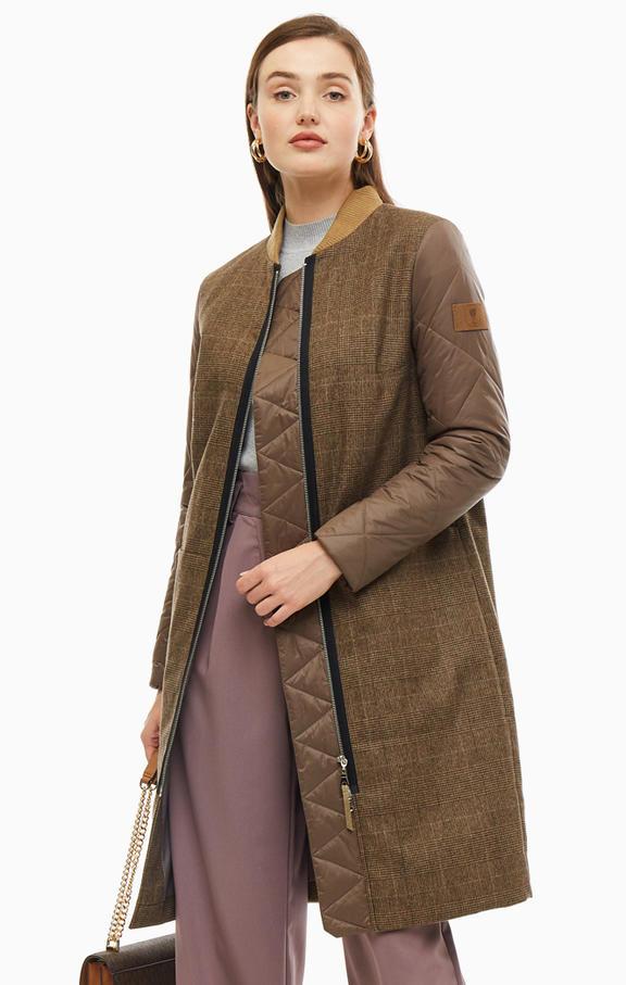 Пальто женское Novaya коричневое