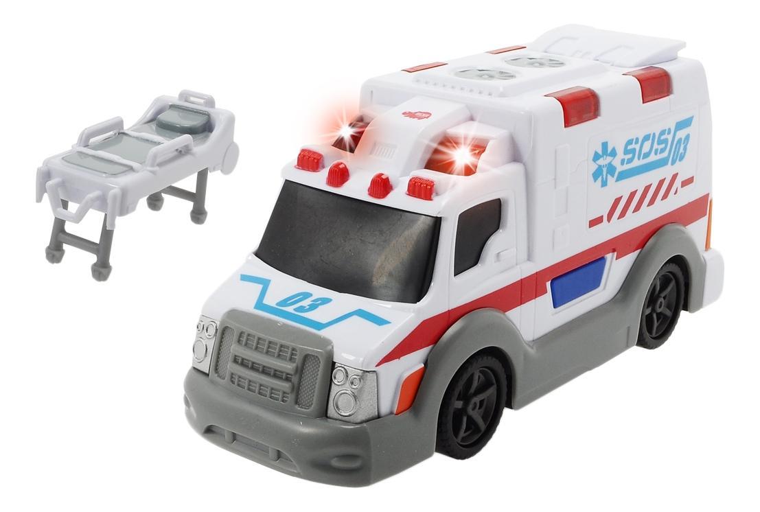 Машина скорой помощи Dickie со светом и звуком, 15 см фото