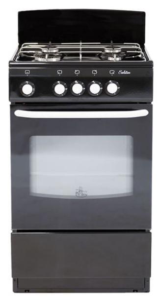 Газовая плита DeLuxe 5040.38г Black