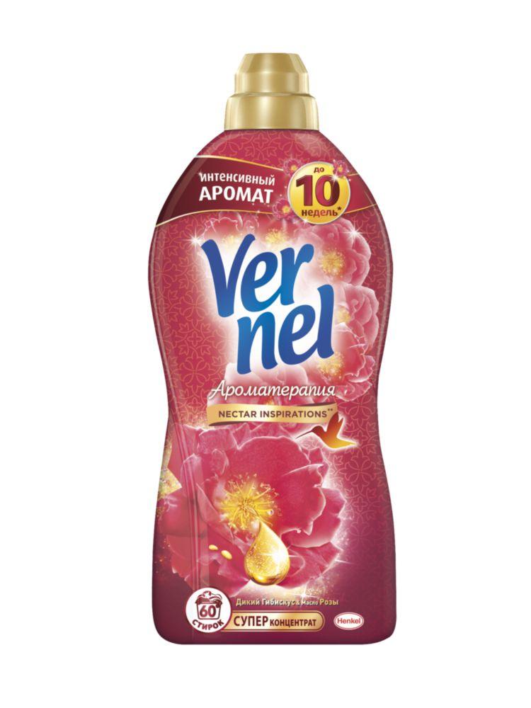 Ополаскиватель для белья Vernel ароматерапия гибискус и роза 1.82 л