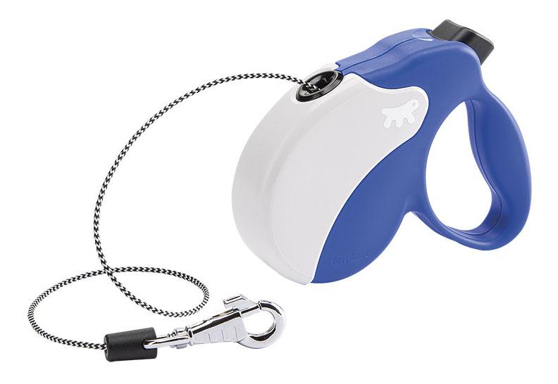 Рулетка-поводок FERPLAST Amigo Mini шнур сине-белая
